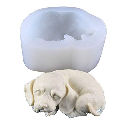 XGLL siliconen mal chocolade ijs schimmel taart decoreren schimmel schattig slaperig hond vorm kristal epoxy mal voor maken mobiele telefoon hanger, sleutelhanger, Fondant schimmel