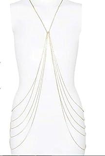 TOWN OF TRINKETS Gold Enamel Bikini Belly Body Waist Layer Link Chain for Women