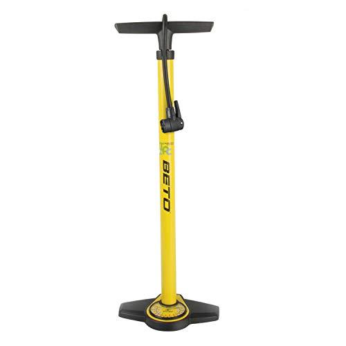 BETO Luftpumpe Hochdruck Standpumpe, Gelb