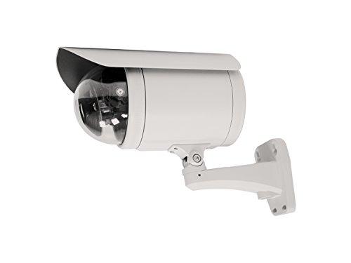 LevelOne IP-Kamera, PTZ Dome Outdoor PoE, 10MP Tag/Nacht schwarz/Weiß