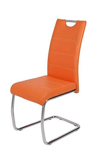 FidgetGear 2X Freischwinger Stuhl Flori orange Show One Size