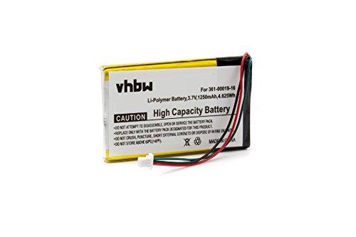 vhbw Akku passend für Garmin Nüvi 700, 710, 710T, 750, 760, 760T, 765, 765T, 770 GPS Navigation Navi (1250mAh, 3,7V, Li-Polymer)