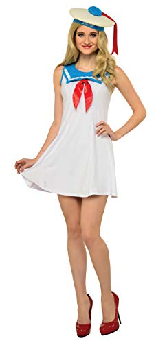 Rubie's Women's Ghostbusters Cute Stay Puft Flair Dress with Hat, 3 Sizes