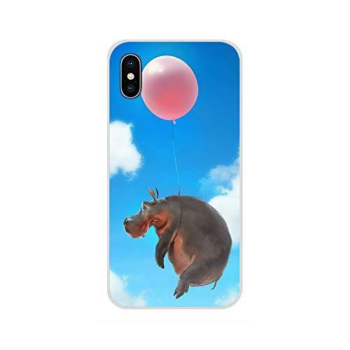 Para Samsung Galaxy S2 S3 S4 S5 Mini S6 S7 Edge S8 S9 S10E Lite Plus Accesorios Carcasa del teléfono Cubiertas lindo animal dibujos animados hippo-imágenes 2-Para S6 Edge plus