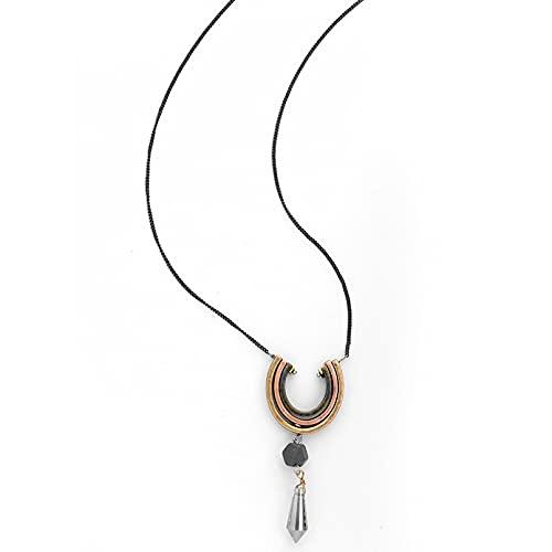 QiuYueShangMao Collar Largo, joyería de Abril, Cristal Retro, exagerado, en Forma de Gota, Simplicidad, Collar de Mujer Obsequios Personalizados Collar de la Amistad