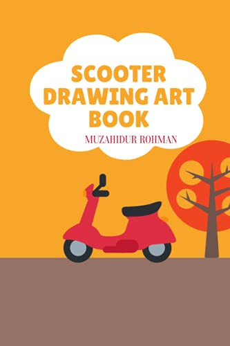 SCOOTER DRAWING ART BOOK