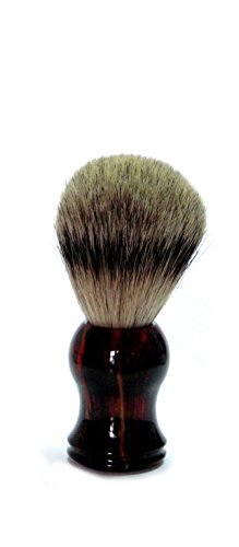 Golddachs Blaireau de rasage 100% poils de rasage avec manche en plastique Marron