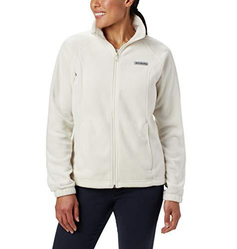 Columbia Women's Benton Springs Full Zip Jacket, Soft Fleece with Classic Fit, Black/Haute Pink, Medium