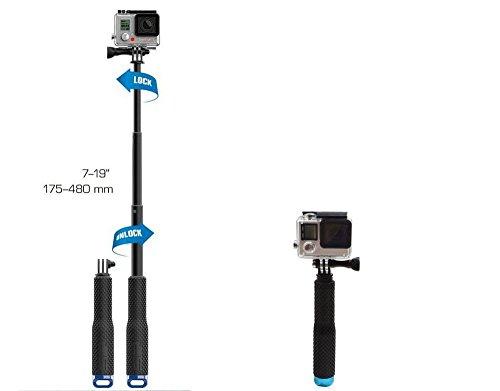 Stylrtop Waterproof Hand Grip Adjustable Extension Selfie Stick Handheld Monopod for GeekPro/GoPro...