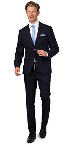 Linus Herren Super Slim Fit Anzug mit Kordelbund in dunkelblau (54)