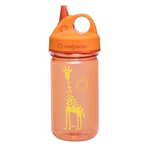 Nalgene Uni Trink und Kunststoff Flasche Everyday Grip-n-Gulp Trinkflasche, Orange, Giraffe, 0.35 Liter