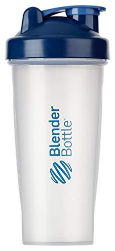 BlenderBottle Classic Shaker | Shaker Protéine | Bouteille d'eau |Blenderball | 820ml - Navy / tranparent