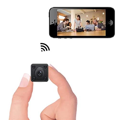 CXSD Cámara espía Wifi oculta, la cámara de vigilancia de seguridad más pequeña 1080P Full HD inalámbrica mini cámara de visión nocturna, cámara web de monitoreo remoto portátil