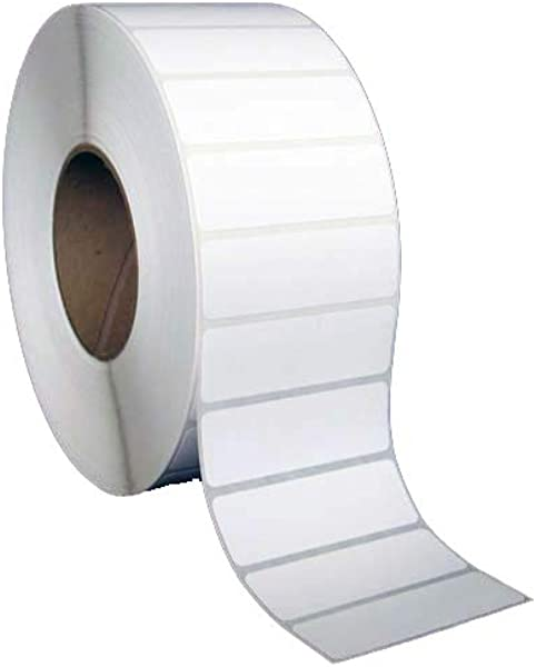 3x1 Inch Thermal Transfer Paper Labels White Rolls 8 OD 3 Core 5500 Labels Per Roll 6 Rolls Per Box 1 Box For Zebra And Other Thermal Barcode Label Printers L TT 30101P