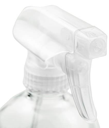 Empty Clear Glass Spray Bottles - Refillable 16 oz Containers for Essential Oils, Cleaning Products, Aromatherapy, Misting Plants, or Cooking - Reliable Sprayer with Mist and Stream Settings ~ 2 Pack