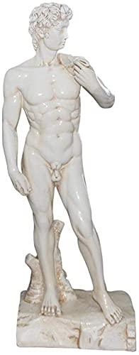 GAOYINMEI Schreibtisch-Skulptur, Kunstharz, Skulptur, Schreibtischdekoration, Michelangelos Davidstatue, Heimdekoration, Kunstgeschenk, 54 cm hoch (Farbe: 54 cm)