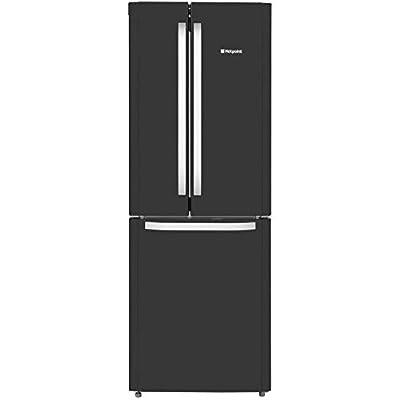 Hotpoint FFU3D.1K 195cm Tall Frost Free Fridge Freezer in Gloss Black A+