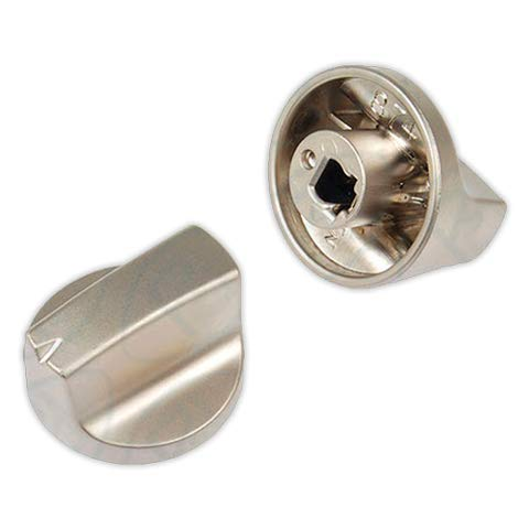 DOJA Industrial | Mando para Cocina y Encimera compatible con TEKA | 6x32 mm | Eje 6 mm | Color Plateado | Mando para Horno, Placa Gas, Butano, Vitroceramica, Microondas, Estufa de Gas.