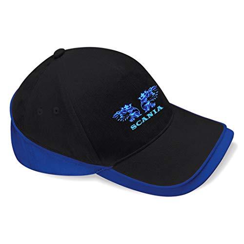 Scania Trucker Shirt LKW Baseball Cap Mütze -c136 (sw-blau)