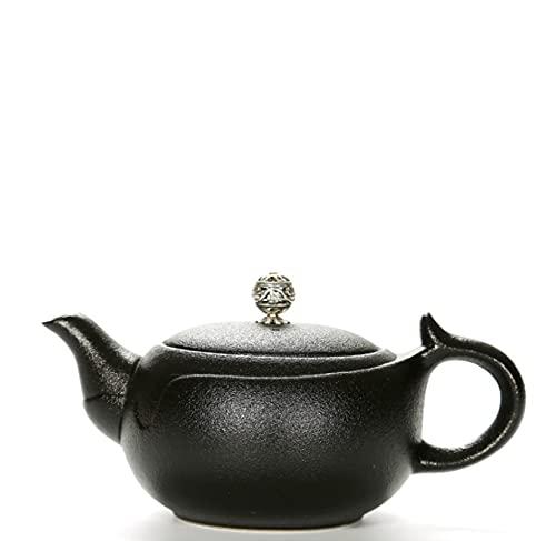 Juego de té Kung Fu, estilo japonés, cerámica negra grande, tetera Xishi, olla individual de cerámica, 180 ml
