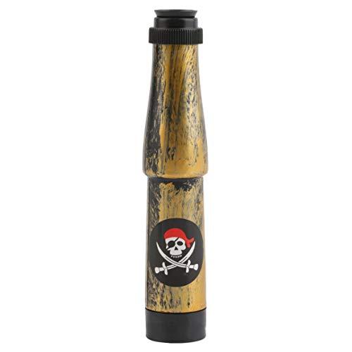 JohnJohnsen Capitán Pirata Disfraz Telescopio náutico Juguete Fiesta de Halloween Regalo para niños Disfraz (Bronce)