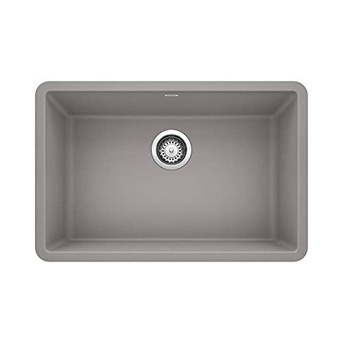 BLANCO, Metallic Gray 522428 PRECIS SILGRANIT Single Bowl Undermount Kitchen Sink