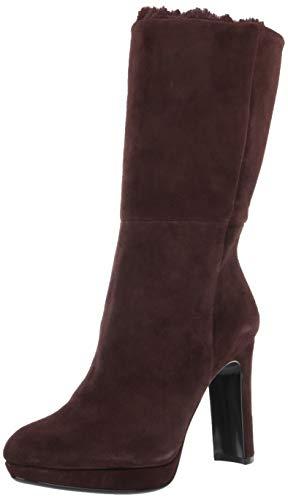 Calvin Klein Women's Pebbles Mid Calf Boot, Coffee Bean, 8.5