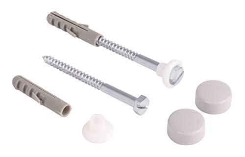 Calmwaters® - Befestigungsset für Stand-WCs, Stand-Bidets, Ablagen in Manhattan-Grau mit Schrauben und Dübeln - 51PM4673