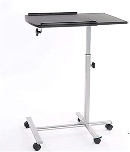 MQJ Mobile Laptop Desk Mobile Desk Escritorio Altura Ajustable Oficina Oficina Escritorio Hogar Cama Laptop Portátil Mesa,Negro,60 * 40 * 75
