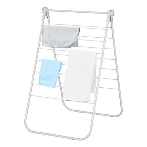 HOMCOM Faltbarer Wäscheständer, tragbarer Ständer, Metall, Kunststoff, Weiß, 67 x 42,5 x 70 cm