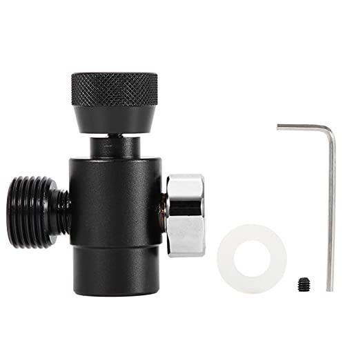 Adaptador de recarga de CO2, kit de conector de adaptador de recarga de cilindro de tanque de llenado de CO2 para Soda Stream (negro, plateado)(adapter with meter-negro)