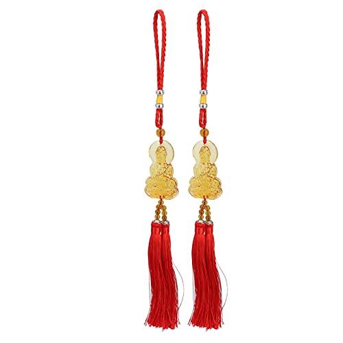 Pssopp Car Pendant Buddhist Tibetan, 2Pcs Buddhist Car Pendant Mirrorr Decoration Hanging Ornaments Accessories
