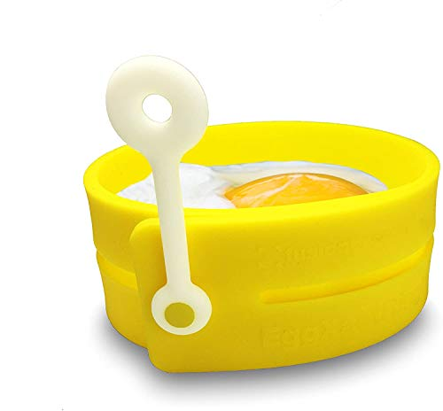 Fusionbrands EggXactRing Adjustible Silicone Egg Ring and Food Ring for Baking, Molding and Presenting, Yellow