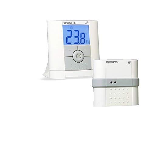 Watts Vision - Termostato digital inalámbrico con 1 receptor empotrado y regulador de termostato