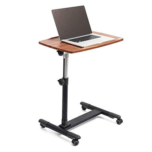 CX Bijzettafel, stabiel laptopbureau met omkeerbaar bureau, verstelbare laptopstandaard, verrijdbaar bureaublad, solide en buitengewone stabiliteit