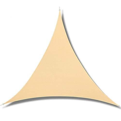 Nevy – driehoekig zonnezeil net loth buitenzwembad waterdichte zonnezeil voorkomt uv-canopy huistuin luifel afdekkap 4x4x5.7m beige