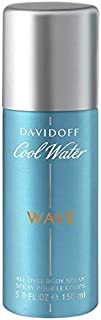Davidoff Cool Water Wave All Over Body Spray For Men, 150  ml