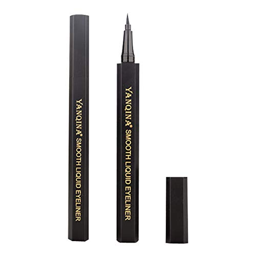 Nourich Noir Eye-liner liquide,rapide de séchage liquide Pen Eyeliner Longlasting Eye-liner liquide Imperméable Liner Gel Crayon Naturel Eyeliner Pen Maquillage Cosmétique (01#)