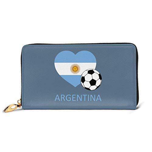 UXZTU Love Argentina Soccer Fashion Women Carteras de Cuero Zipper Clutch Purse
