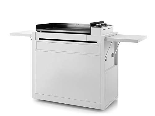 Forge Adour Chariot fermé pour plancha Premium 75 Acier Blanc