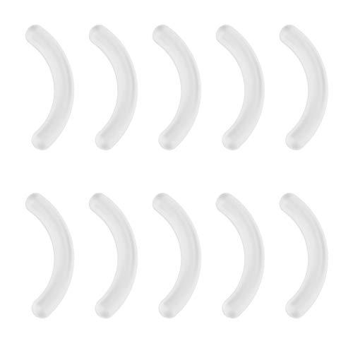Lot de 10 tampons de recourbe-cils en silicone lavables pour la maison, le salon, Pas de zéro, blanc, Taille unique