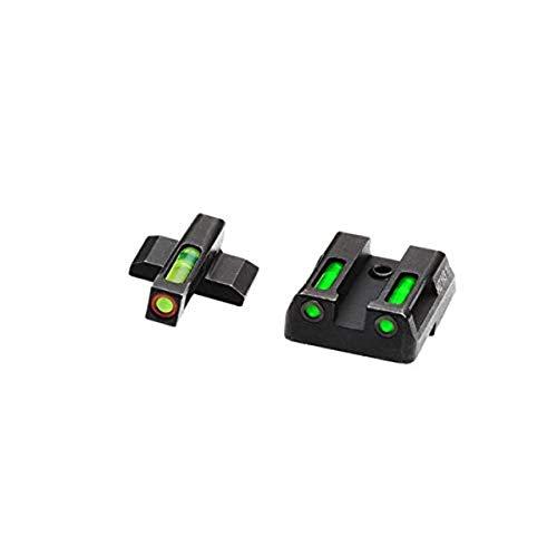 HiViz Litewave H3 Sight Tritium LitePipe Day/Night for HK VP9, Green litepipes w/Orange Front Ring