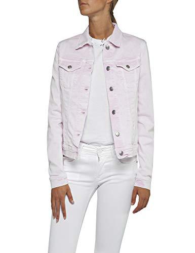 Replay Damen WA7651.000.8069395 Jeansjacke, Rosa (Pink 66), X-Small (Herstellergröße: XS)