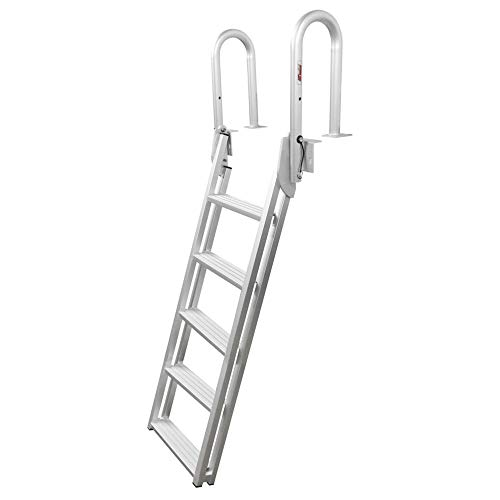 Extreme Max 3005.4239 Slanted Flip-Up Dock Ladder - 5-Step