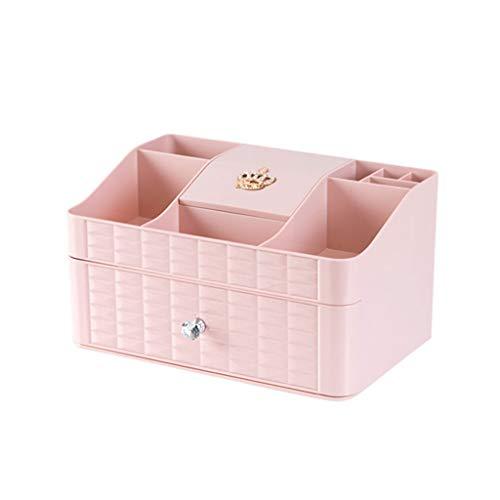 Zyj stores-Coffret Maquillage Type de tiroir Boîte de Rangement cosmétique Boîte de Finition Multi-Couches pour Bureau (Color : Pink, Taille : One Drawer)