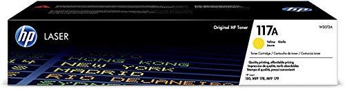 HP Toner 117A W2072A, Cartuccia Originale da 700 Pagine, Compatibile con Stampanti HP Toner Color LaserJet Serie 150 e HP Toner Color Laserjet Serie MFP 170, Giallo