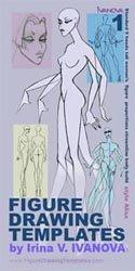 Figure Drawing Templates Set #1: Standard Female Figure. (Fashion Illustration Templatesáby Irina V. Ivanova)