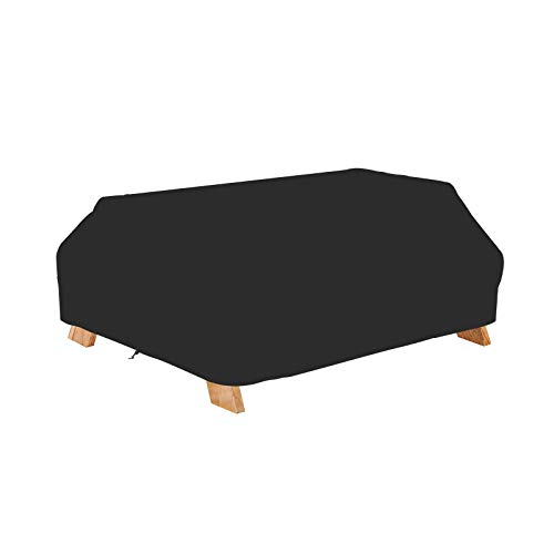 StorMaster 70 Inch Waterproof Picnic Table Cover Black Weather Resistant Patio Table Bench Covers Winter Outdoor