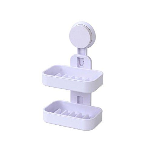 Xuan - Worth Having Weißes doppeltes materielles kreatives Seifen-Plastikstangen-Badezimmer-Saugnapf-Art