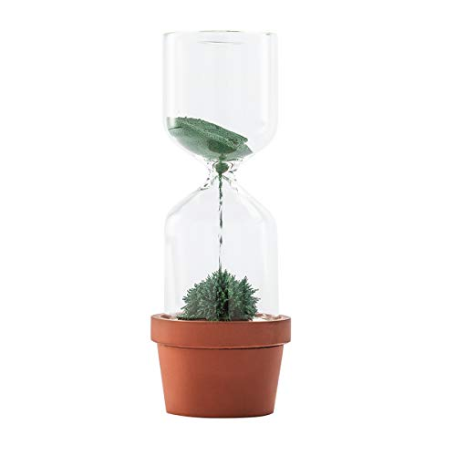 MULU『砂時計ガラス磁気鉢植え』